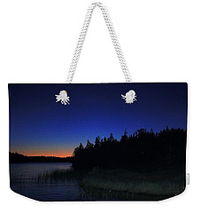Black And Blue Sky Weekender Tote Bag