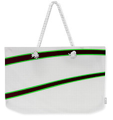 Weekender Tote Bag featuring the photograph Black And Green by Joe Kozlowski