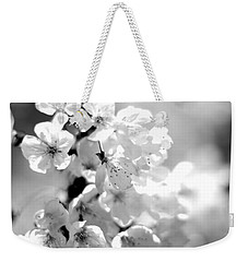 Black And White Blossoms Weekender Tote Bag