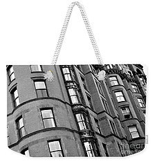Black And White Building Facade Weekender Tote Bag