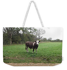Black And White Bull Weekender Tote Bag by John Williams