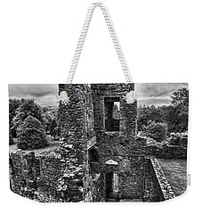 Black And White Castle Weekender Tote Bag