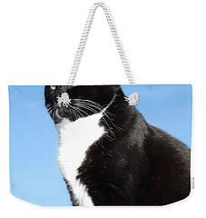 Black And White Cat Weekender Tote Bag