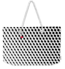 Black And White Cubes With One Red Cube. Weekender Tote Bag