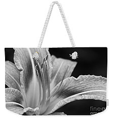 Black And White Daylily Flower Weekender Tote Bag