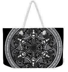 Black And White Gothic Celtic Mermaids Weekender Tote Bag