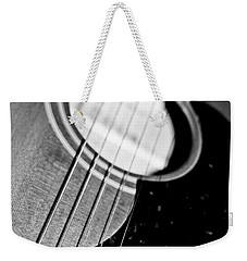 Black And White Harmony Guitar Weekender Tote Bag