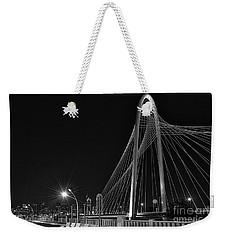 Black And White Hunt-bridge-dallas Weekender Tote Bag