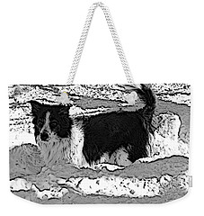 Black And White In Snow Weekender Tote Bag by Michael Porchik