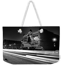 Black And White Light Painting Old City Prime Weekender Tote Bag