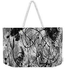 Black And White Weekender Tote Bag by Nancy Merkle