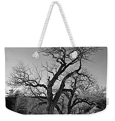 Black And White Oak Weekender Tote Bag by Janice Westerberg