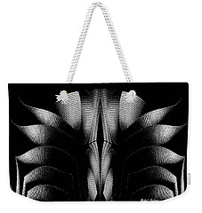 Weekender Tote Bag featuring the mixed media Black And White by Rafael Salazar