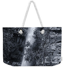 Black And White Waterfall Weekender Tote Bag