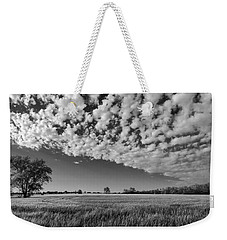 Black And White Wheat Field Weekender Tote Bag
