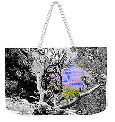 Black And White With Color Weekender Tote Bag