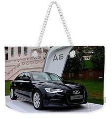 Black Audi A6 Classic Saloon Car Weekender Tote Bag