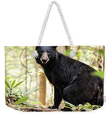 Black Bear Smile Weekender Tote Bag
