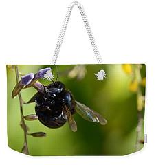 Black Bumblebee Weekender Tote Bag by Debra Martz