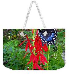 Black Butterflies Weekender Tote Bag