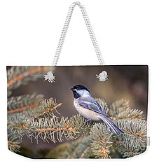 Black-capped Chickadee Weekender Tote Bag