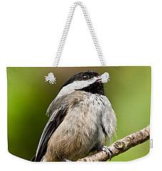 Black Capped Chickadee Singing Weekender Tote Bag