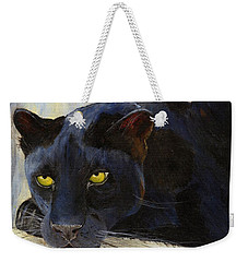Black Cat Weekender Tote Bag by Jamie Frier