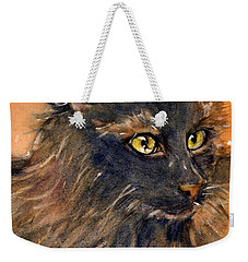 Black Cat Weekender Tote Bag by Judith Levins