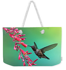 Black Chinned Hummingbird Weekender Tote Bag