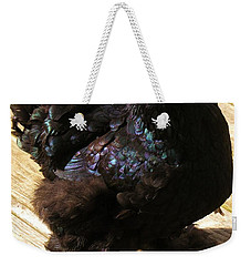 Weekender Tote Bag featuring the photograph Black Cochin by Sherman Perry