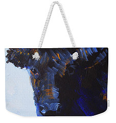 Black Cow Head Weekender Tote Bag