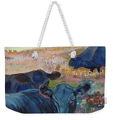 Black Cows On Dartmoor Weekender Tote Bag