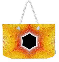 Black Cube Weekender Tote Bag