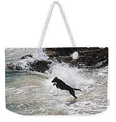 Black Dog Weekender Tote Bag