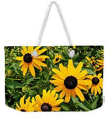 Weekender Tote Bag featuring the photograph Black-eyed Susan by Jean Goodwin Brooks