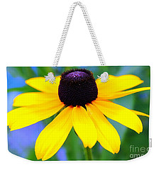 Weekender Tote Bag featuring the photograph Black Eyed Susan by Judy Palkimas