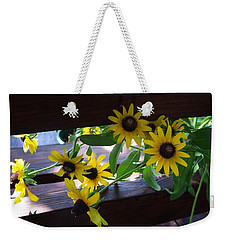 Black-eyed Susans Weekender Tote Bag by Ellen Tully