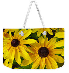 Weekender Tote Bag featuring the photograph Black Eyed Susans by Suzanne Gaff