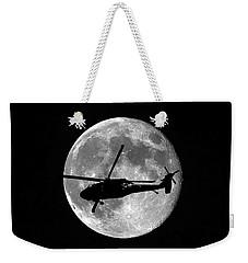 Black Hawk Moon Vertical Weekender Tote Bag