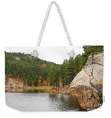 Weekender Tote Bag featuring the photograph Black Hills Lake by Mary Carol Story