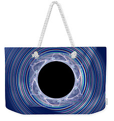 Weekender Tote Bag featuring the digital art Black Hole by Victoria Harrington