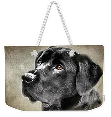 Black Lab Portrait Weekender Tote Bag