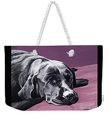 Black Labrador Beauty Sleep Weekender Tote Bag