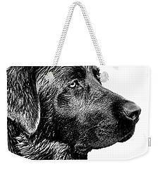 Black Labrador Retriever Dog Monochrome Weekender Tote Bag