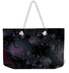Weekender Tote Bag featuring the digital art Black Light Reveal by Elizabeth McTaggart