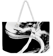 Weekender Tote Bag featuring the painting Black Magic 307 Inverted by Sharon Cummings