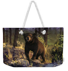 Weekender Tote Bag featuring the painting Black Max by Rob Corsetti