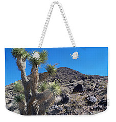 Weekender Tote Bag featuring the photograph Black Mountain Yucca by Alan Socolik