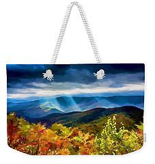 Black Mountains Overlook On The Blue Ridge Parkway Weekender Tote Bag