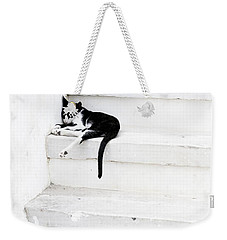 Weekender Tote Bag featuring the photograph Black On White 2 by Lisa Parrish